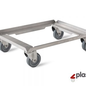 A2 Trolley container 600x400mm (Stainless steel)