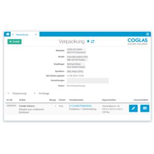 COGLAS® Shipping software