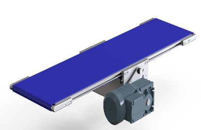 Belt conveyor with direct miniature central drive