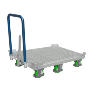 6-WHEEL PLATFORM TROLLEY WITH CENTRAL FIXED AXLE